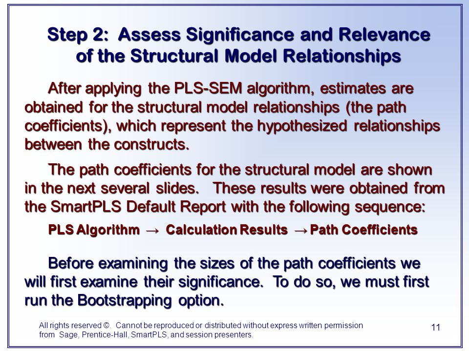 Step 2: Assess Significance and Relevance of the Structural Model Relationships