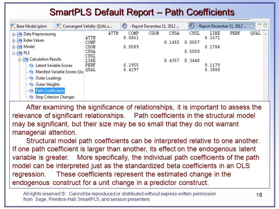 SmartPLS Default Report – Path Coefficients