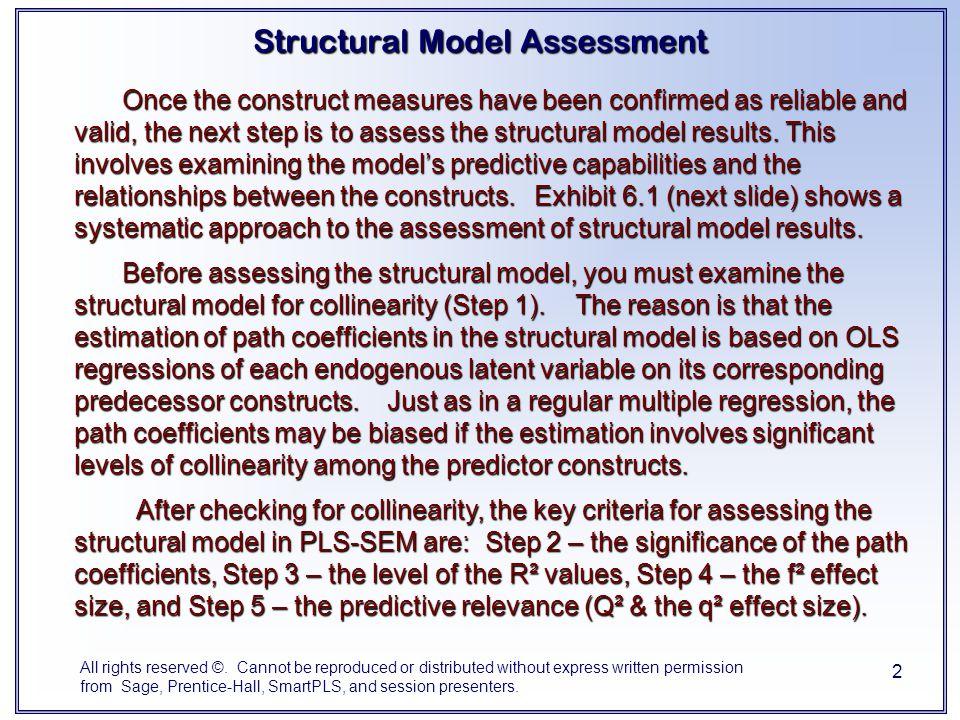Structural Model Assessment