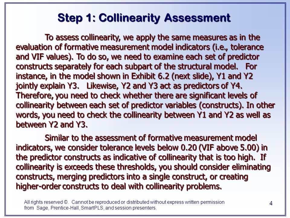 Step 1: Collinearity Assessment