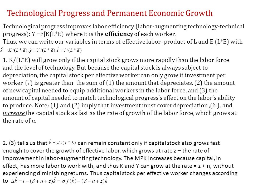 Technological Progress and Permanent Economic Growth