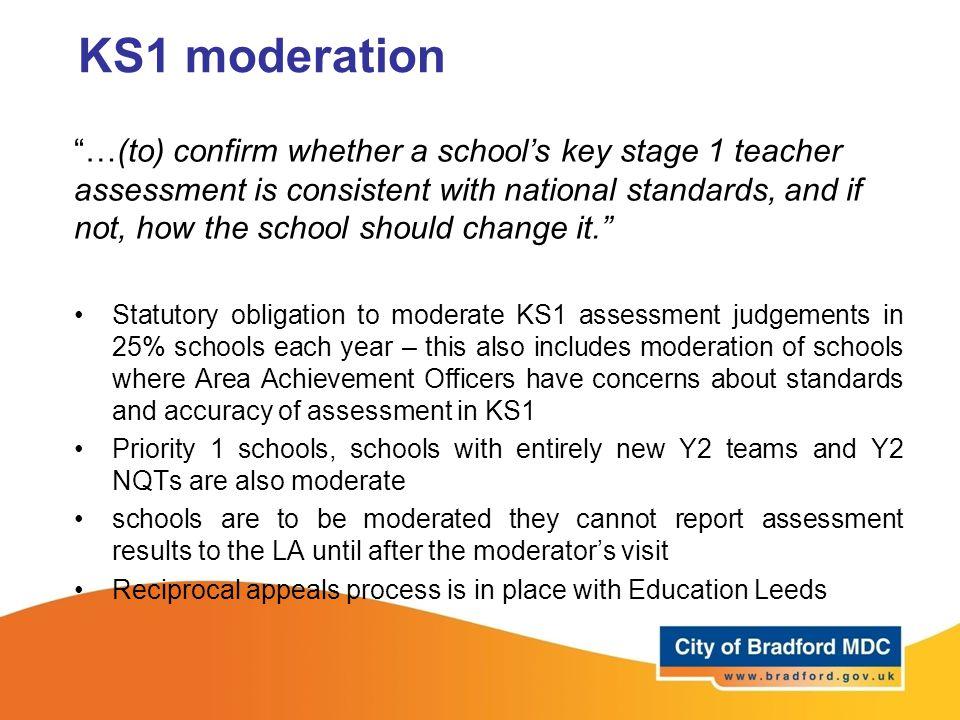 KS1 moderation