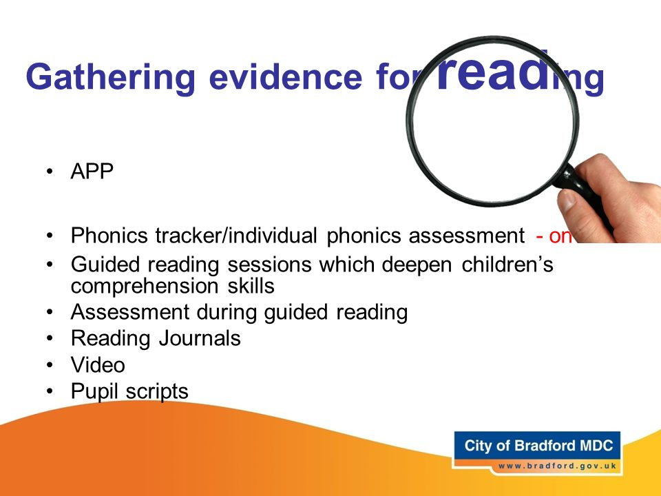 Gathering evidence for reading