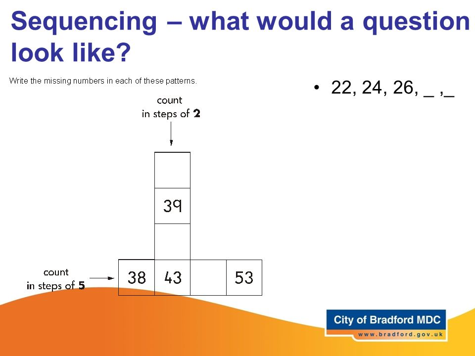 Sequencing – what would a question look like