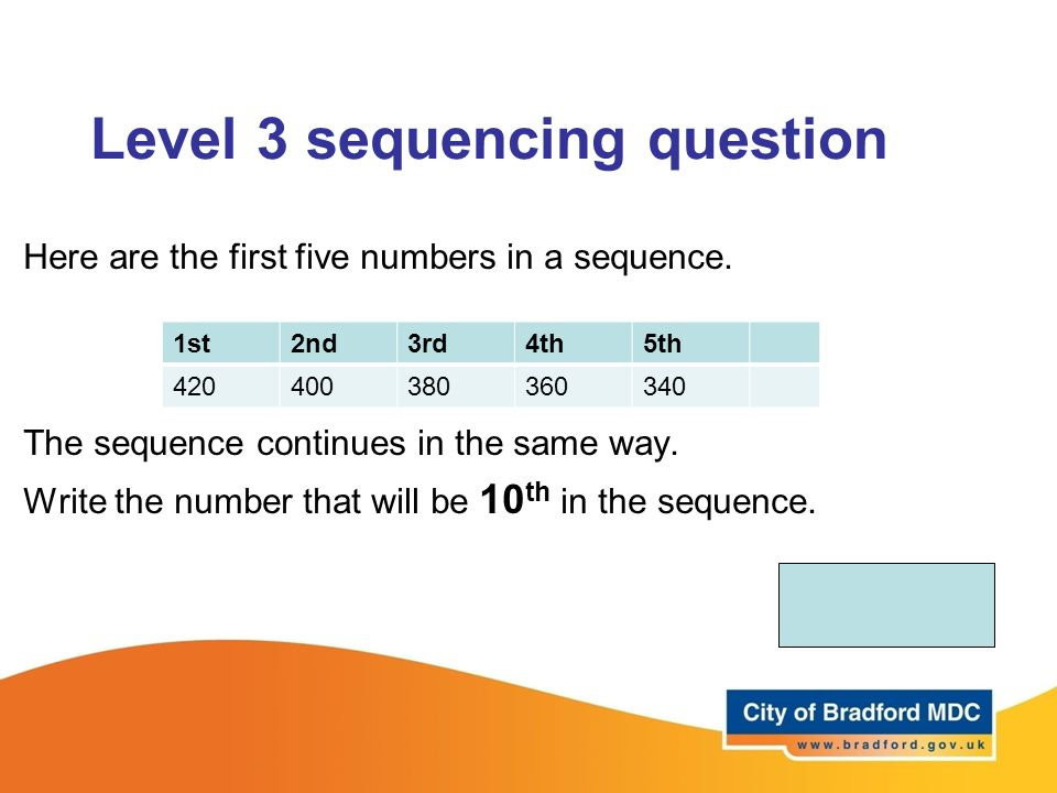 Level 3 sequencing question