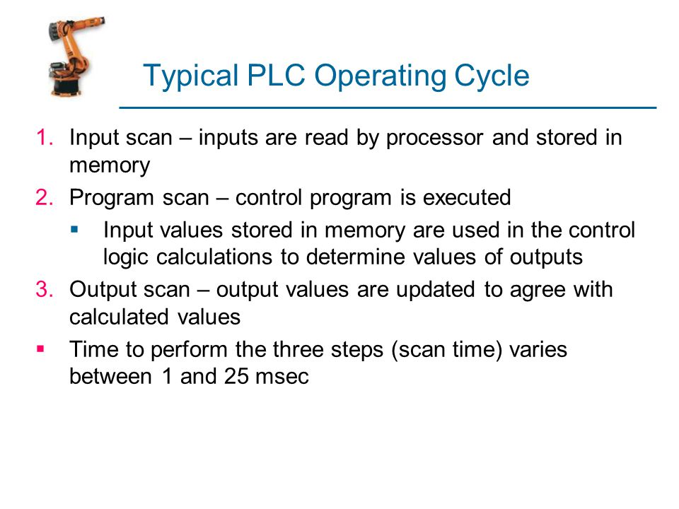 Typical PLC Operating Cycle