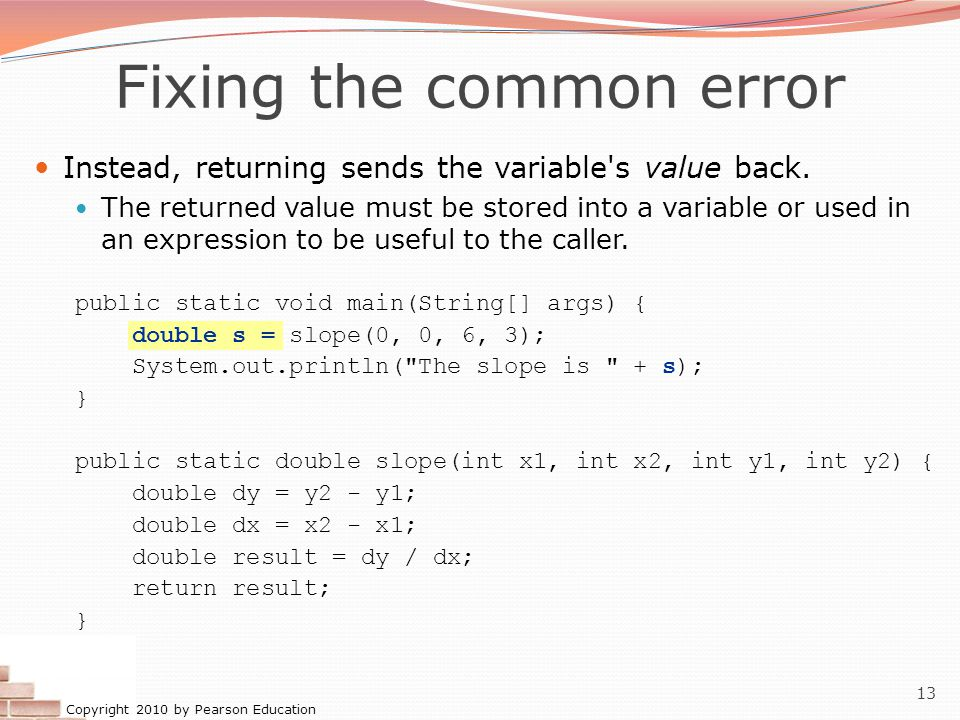 Fixing the common error