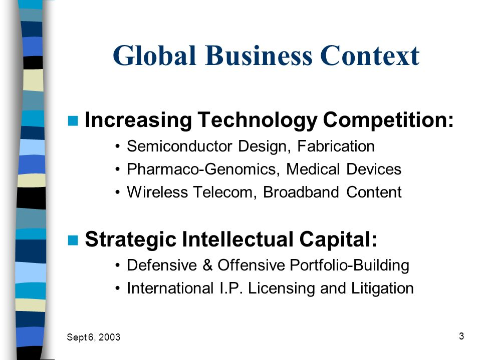 Global Business Context
