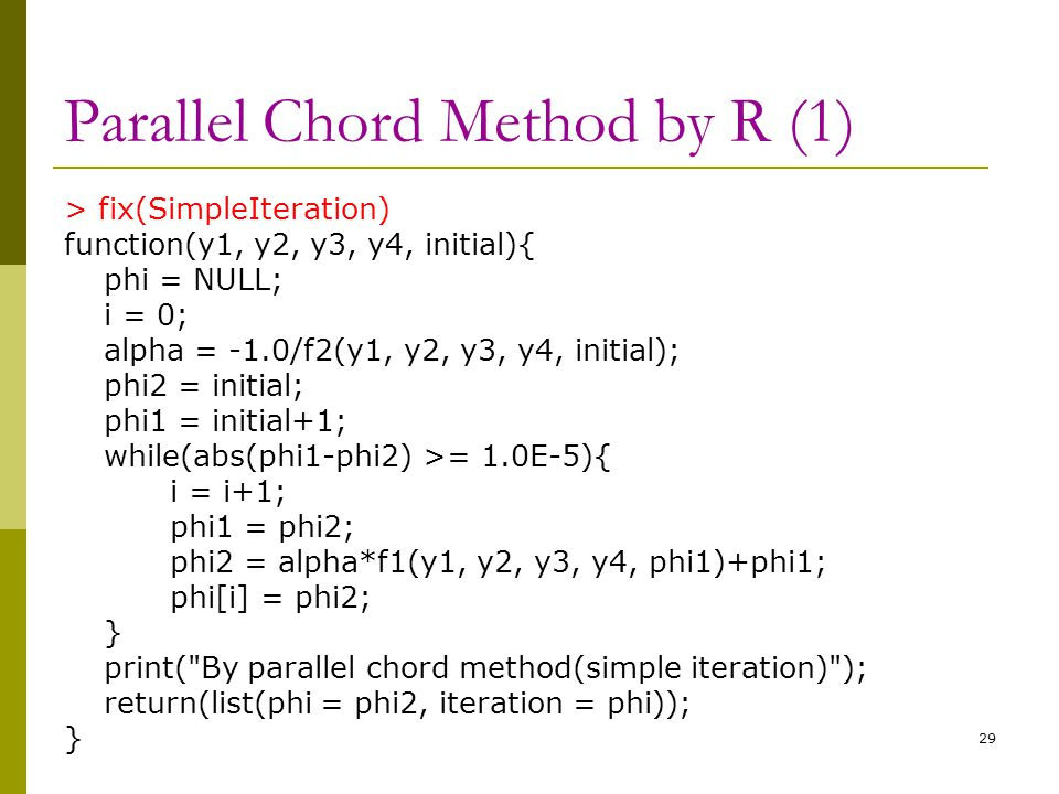 Parallel Chord Method by R (1)
