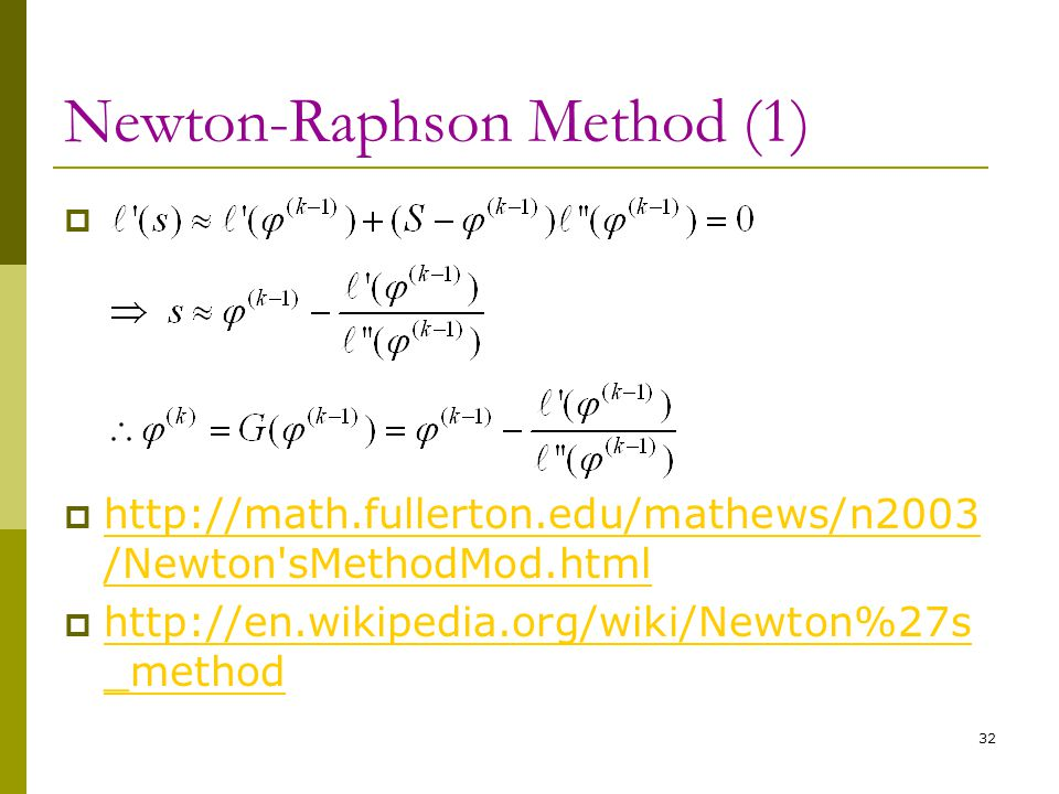 Newton-Raphson Method (1)