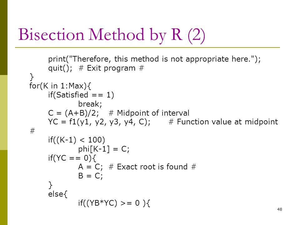Bisection Method by R (2)