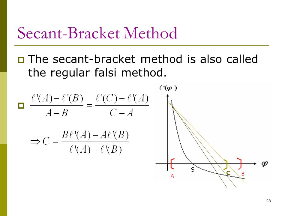 Secant-Bracket Method