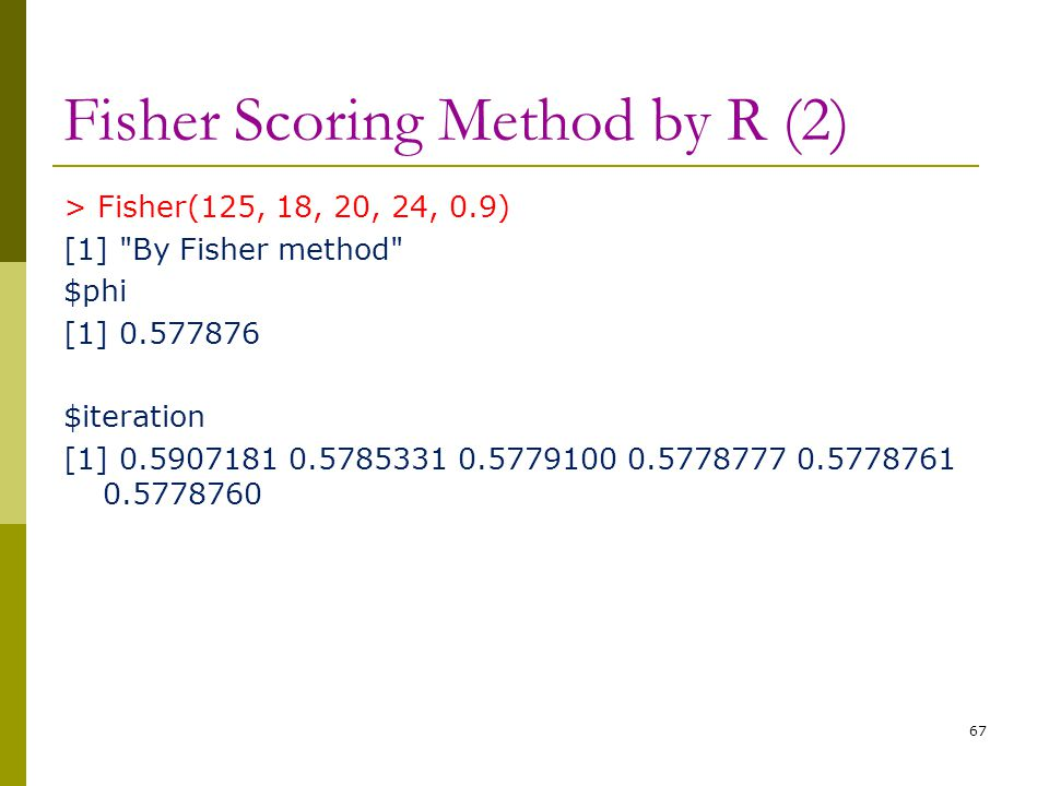 Fisher Scoring Method by R (2)