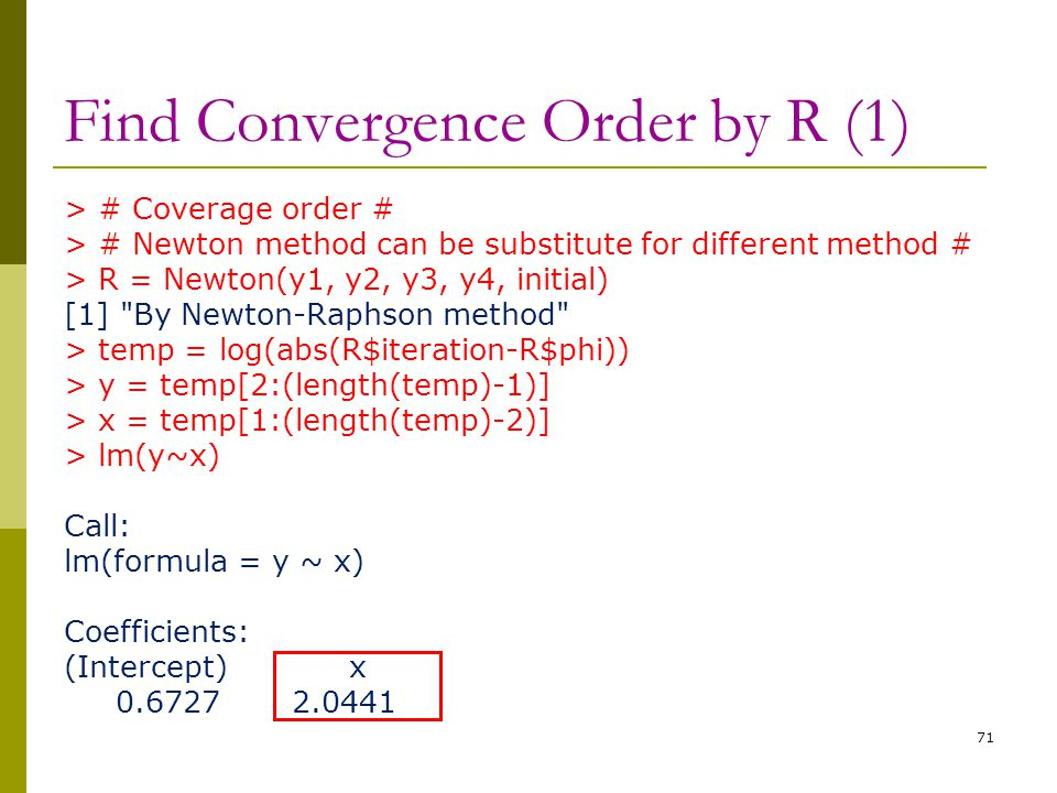 Find Convergence Order by R (1)