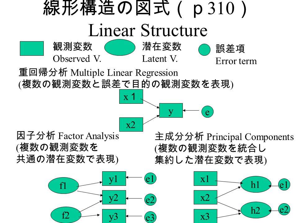 線形構造の図式(p310) Linear Structure