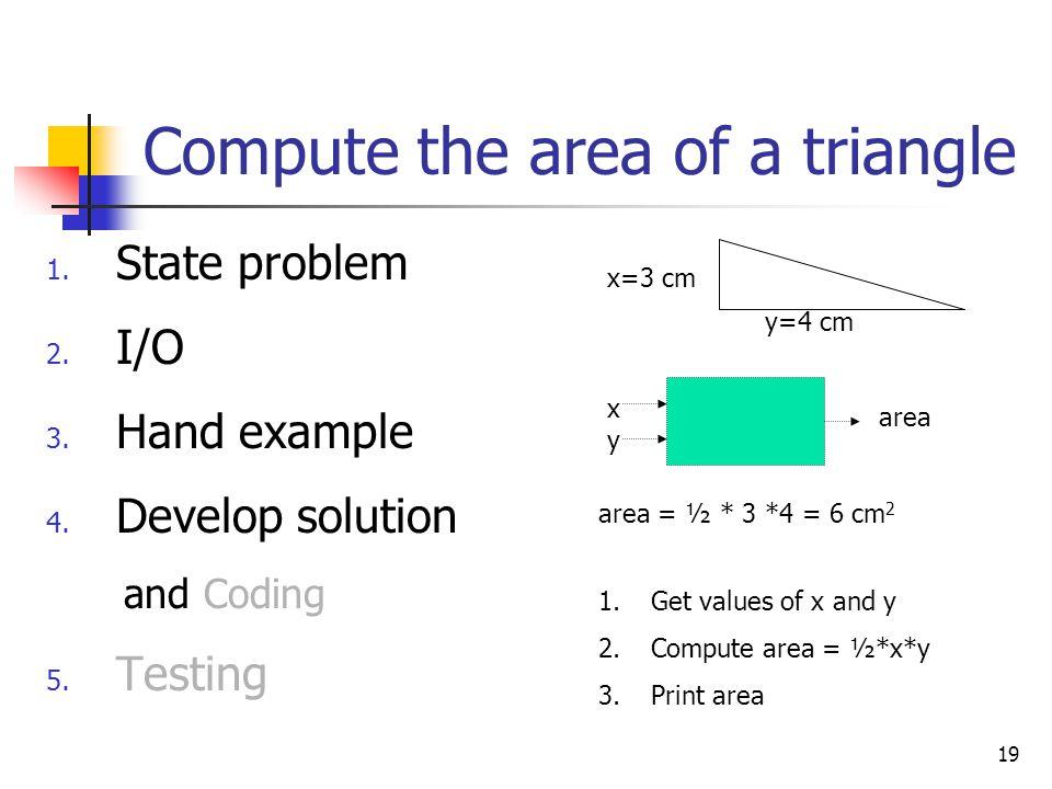 Compute the area of a triangle