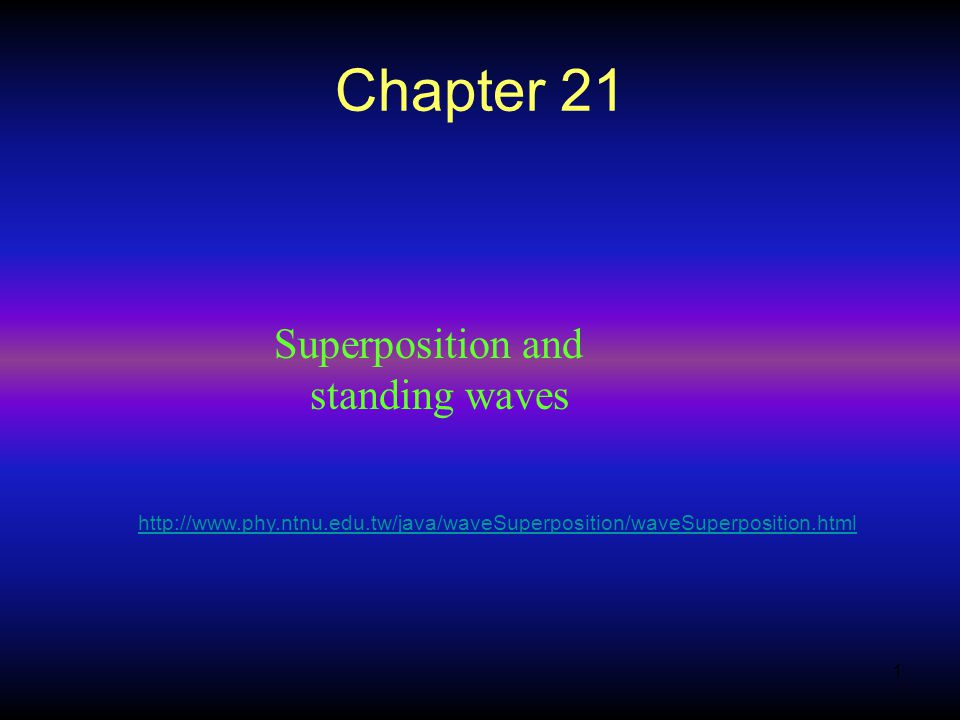 Chapter 21 Superposition and standing waves