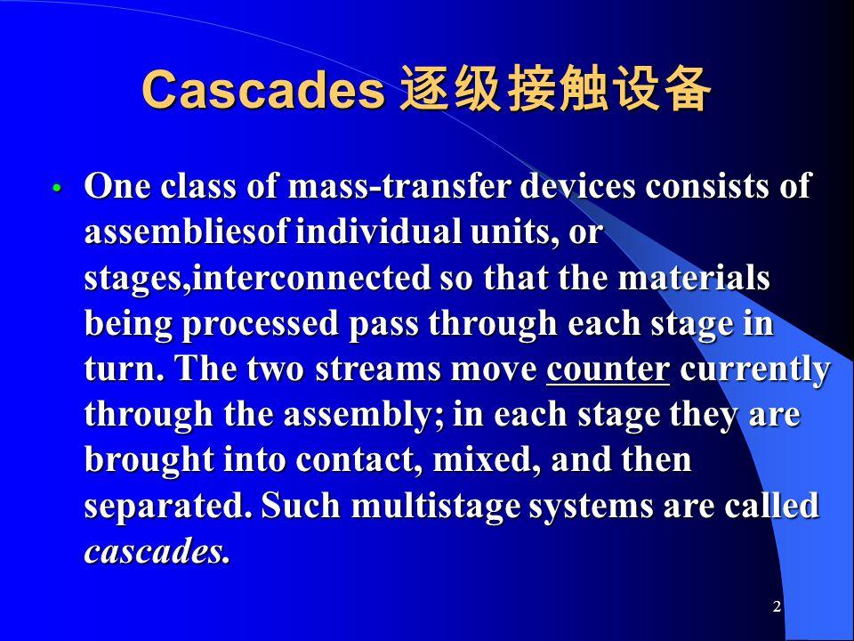 Cascades 逐级接触设备