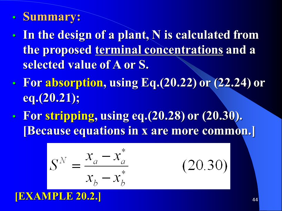 For absorption, using Eq.(20.22) or (22.24) or eq.(20.21);