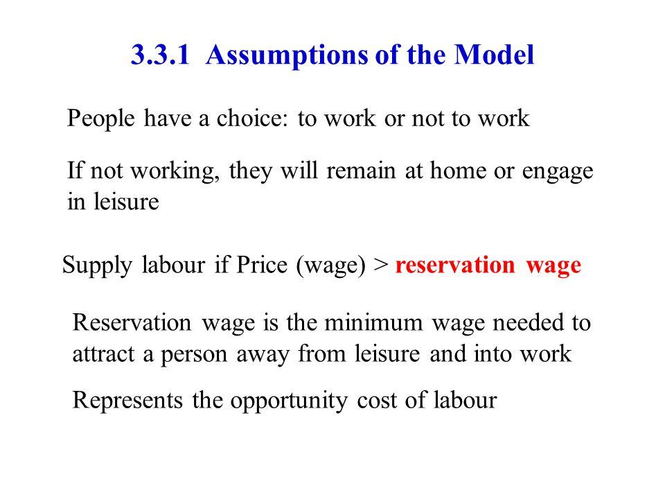 3.3.1 Assumptions of the Model