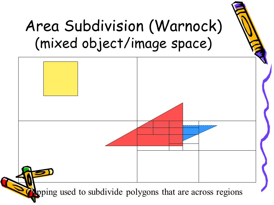 Area Subdivision (Warnock) (mixed object/image space)