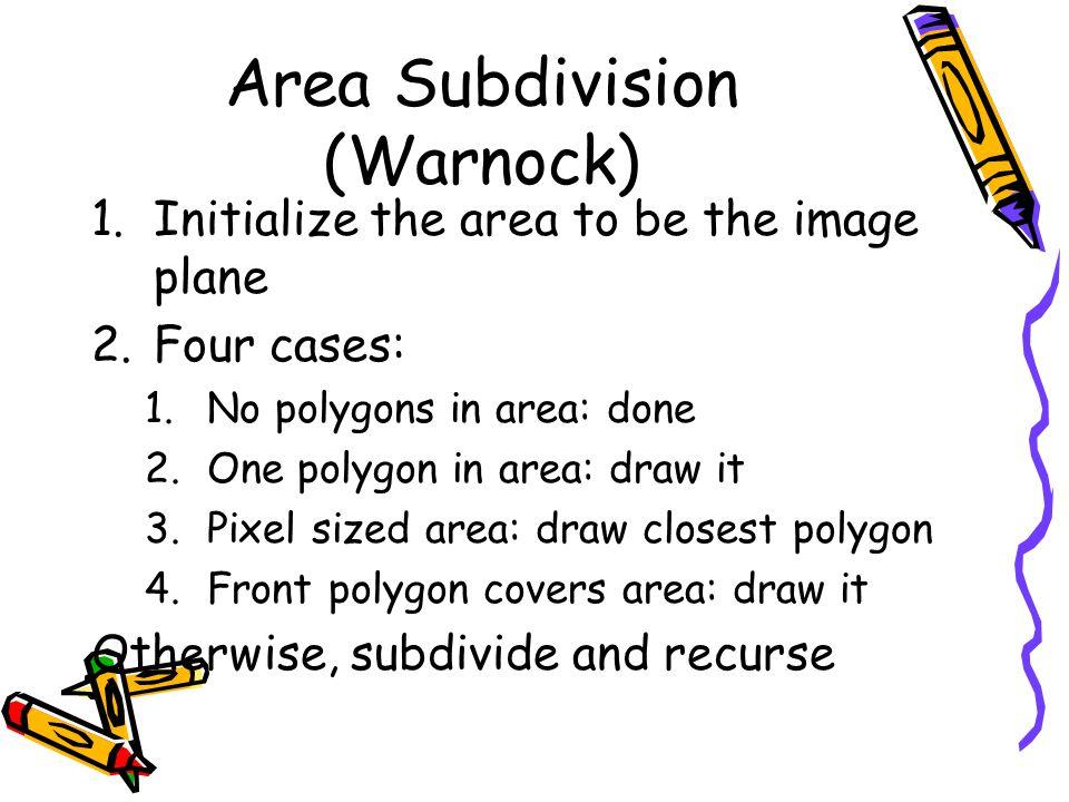 Area Subdivision (Warnock)