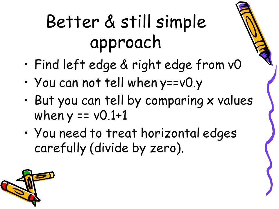 Better & still simple approach