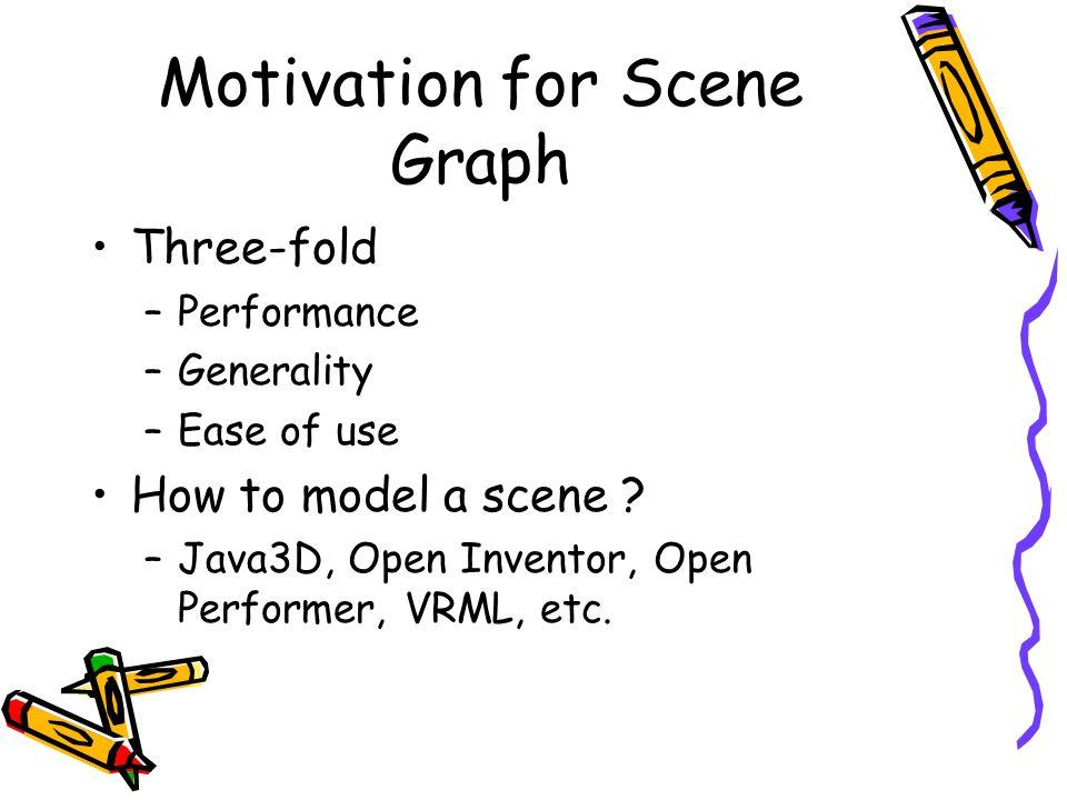 Motivation for Scene Graph