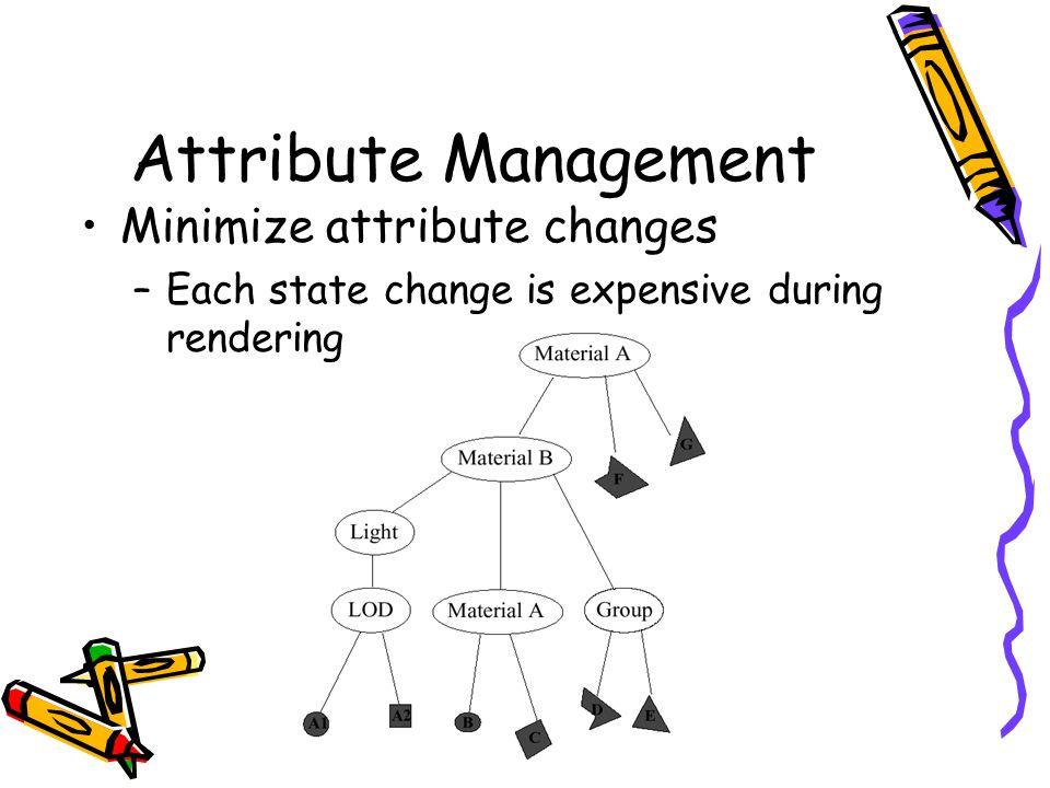 Attribute Management Minimize attribute changes