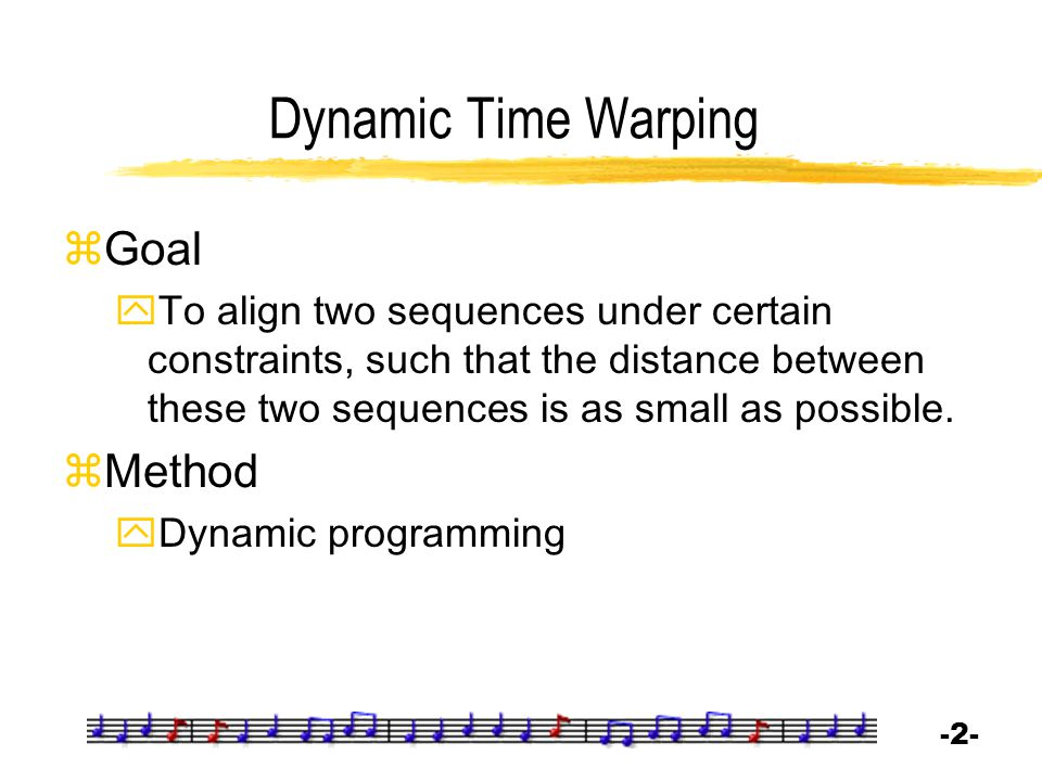 Dynamic Time Warping Goal Method