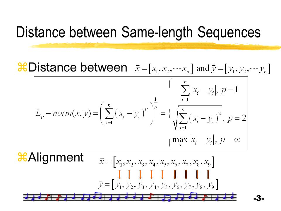 Distance between Same-length Sequences