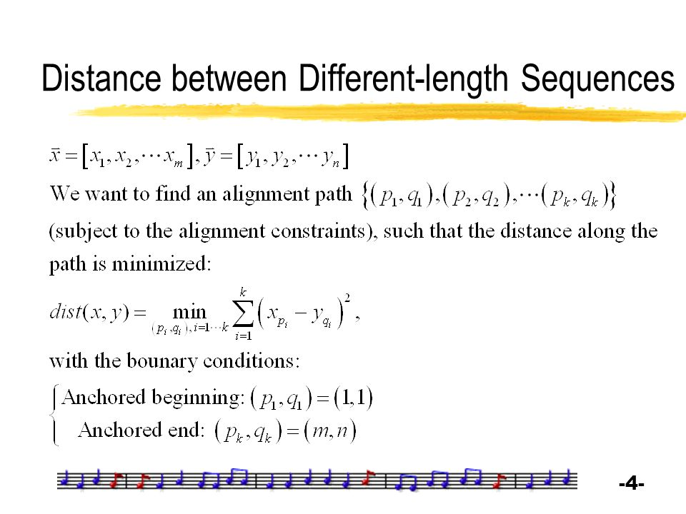 Distance between Different-length Sequences