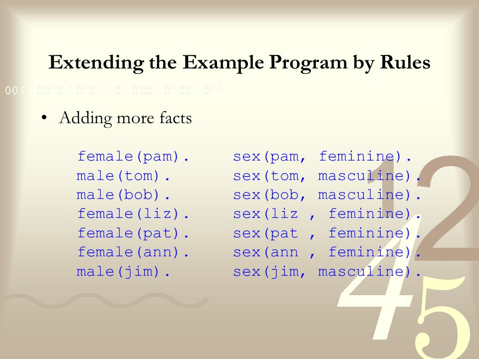 Extending the Example Program by Rules