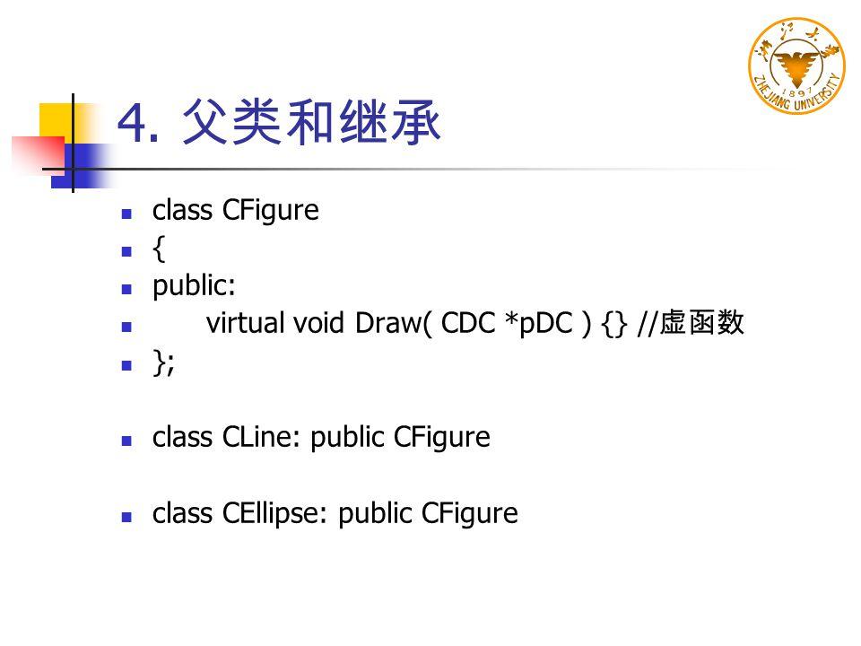4. 父类和继承 class CFigure { public: