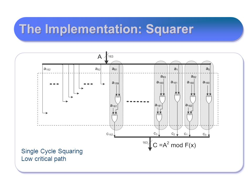 The Implementation: Squarer