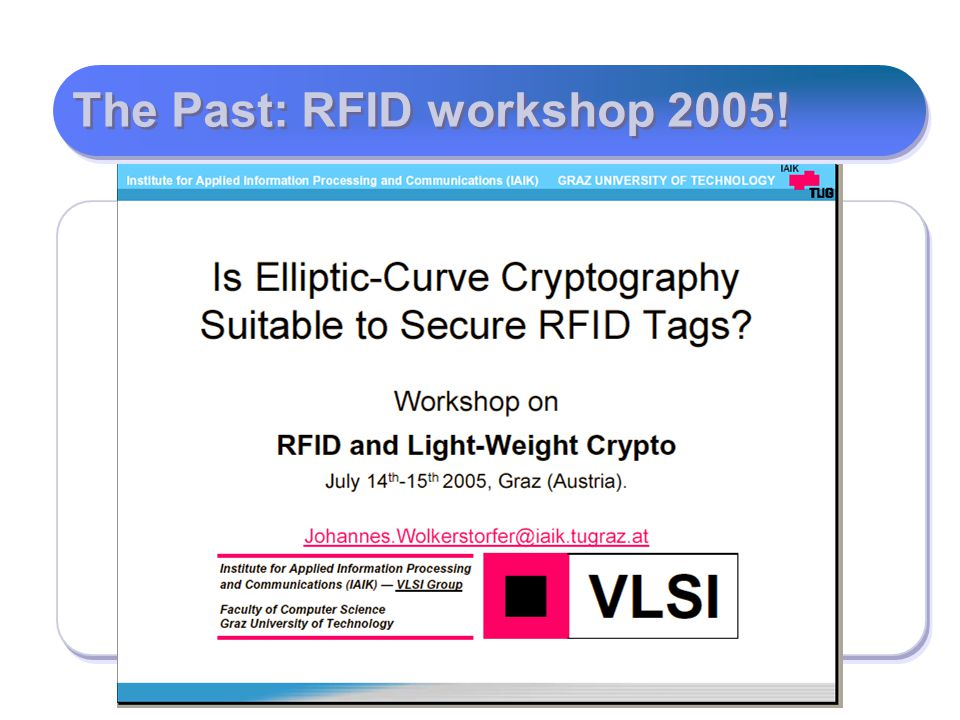 The Past: RFID workshop 2005!