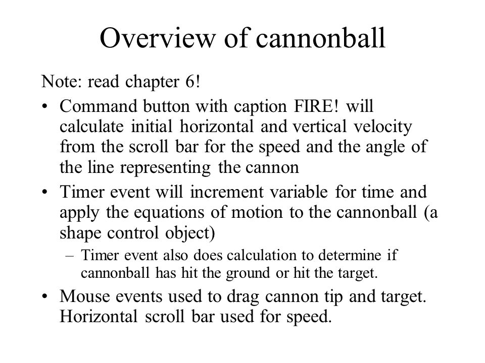 Overview of cannonball