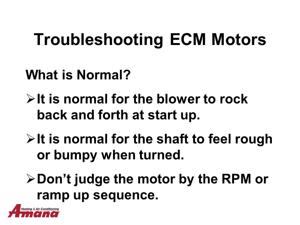 ecm motor troubleshooting
