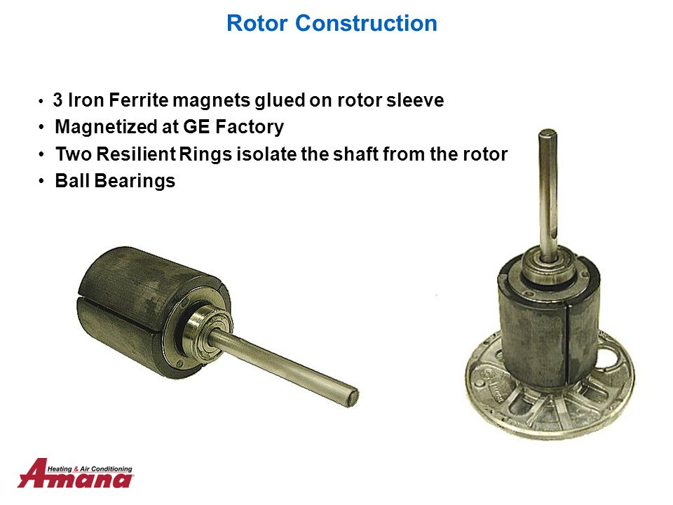Rotor Construction Magnetized at GE Factory