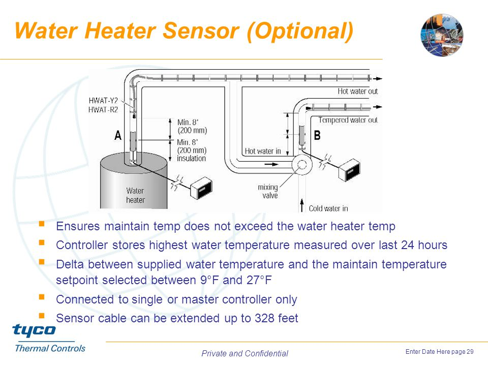 Water Heater Sensor (Optional)