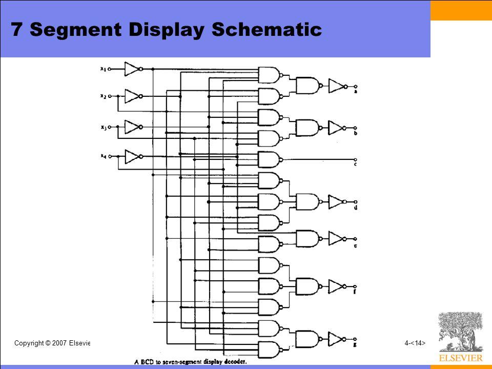 7 Segment Display Schematic