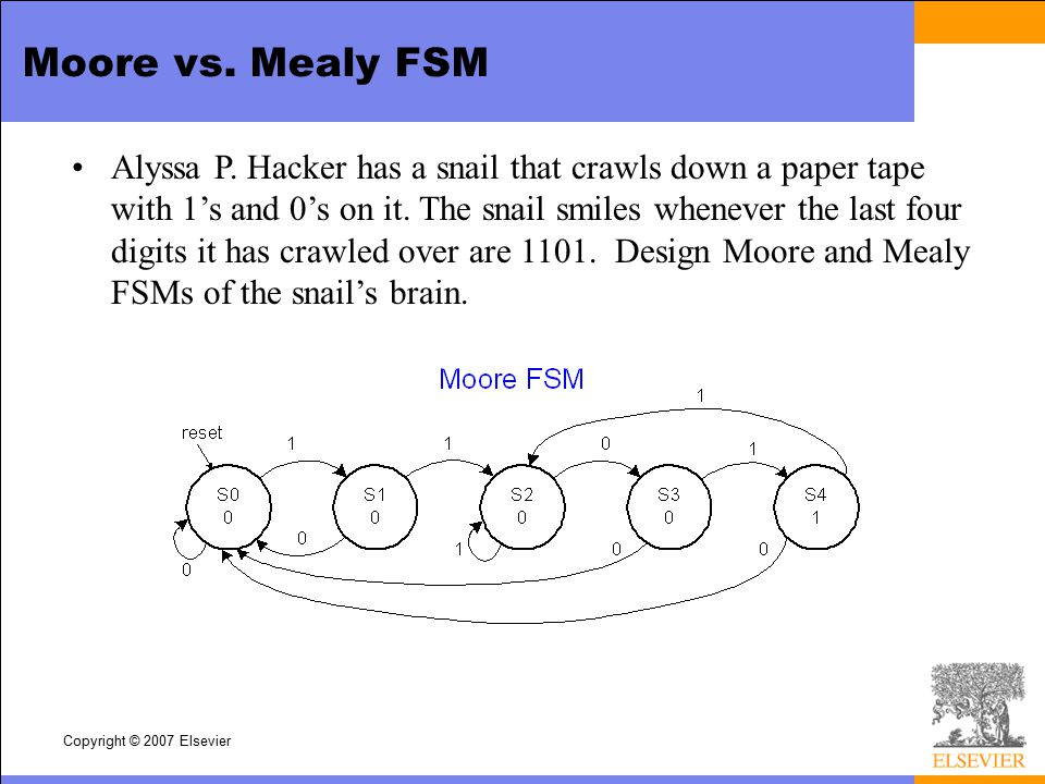 Moore vs. Mealy FSM