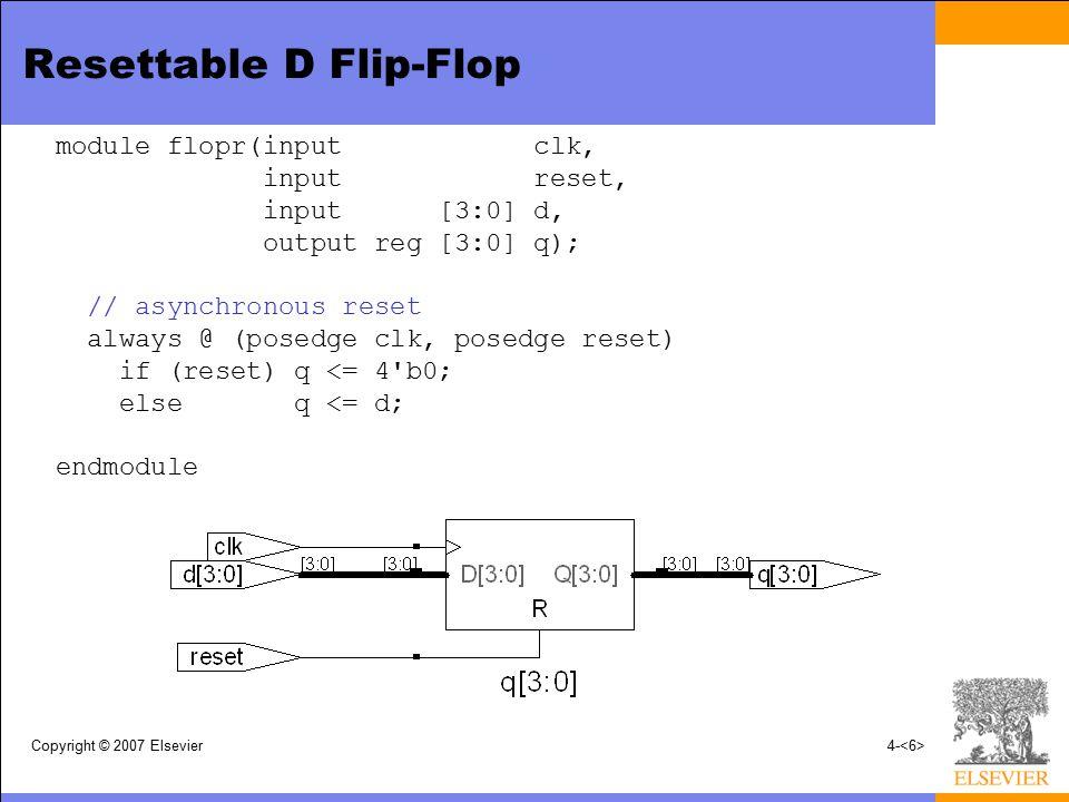 Resettable D Flip-Flop