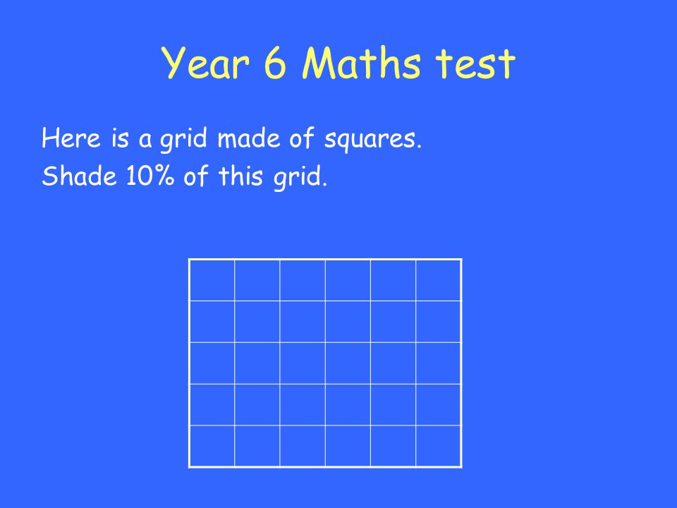 Year 6 Maths test Here is a grid made of squares.