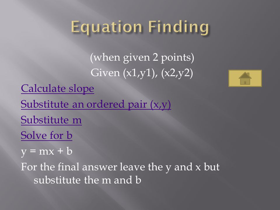 Equation Finding