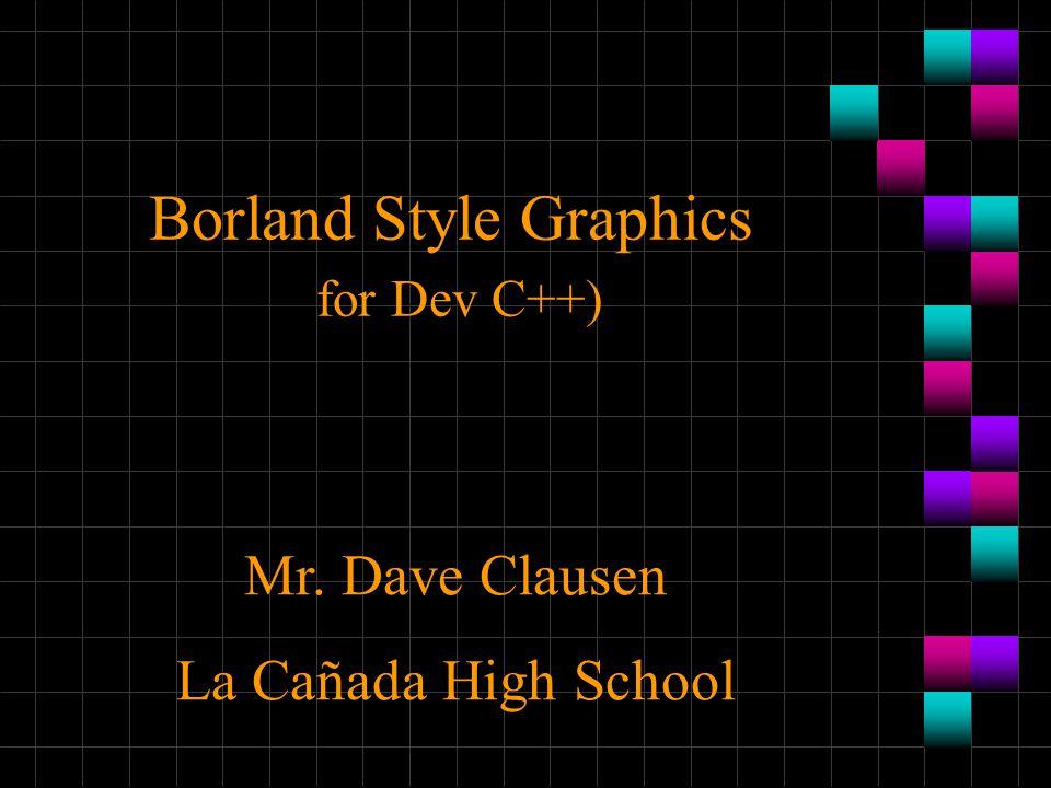 Borland Style Graphics for Dev C++)