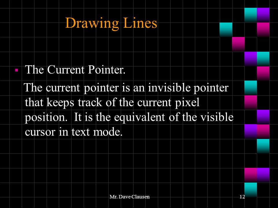 Drawing Lines The Current Pointer.