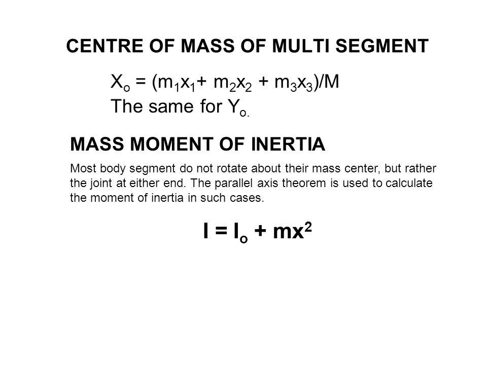 CENTRE OF MASS OF MULTI SEGMENT