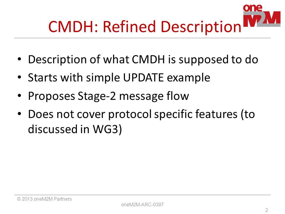 CMDH: Refined Description