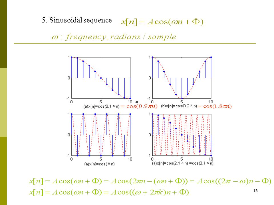 5. Sinusoidal sequence